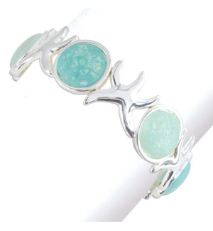 Bracelet-Aqua Rounds with Starfish