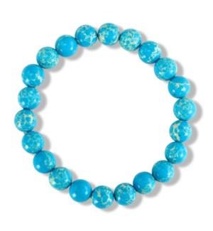 Bracelet-Aqua Natural Stone Beads