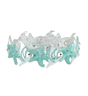 Bracelet-Aqua Fish and Starfish