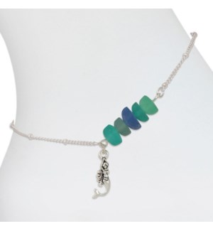 Anklet-Mermaid and Sea Glass