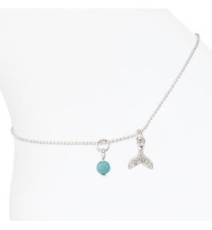 Anklets-Silver Mermaid Tail