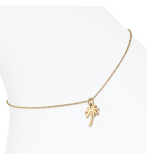 Anklet-Gold Palm Tree