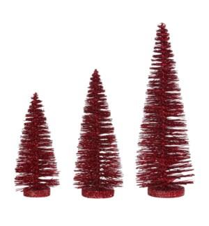 """*SB* 14"""" Glittered Bottle Brush Tree"""