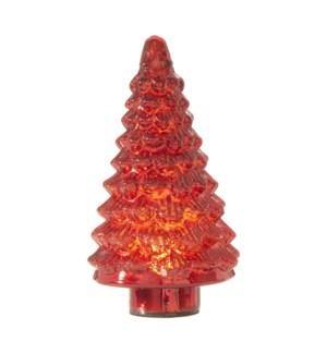 "*SB* 12"" Glass Lighted Tree"