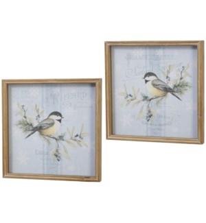 """*SB* 14"""" Chickadee Framed Print"""