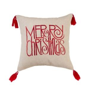 """*SB* 12"""" Merry Christmas Pillow"""