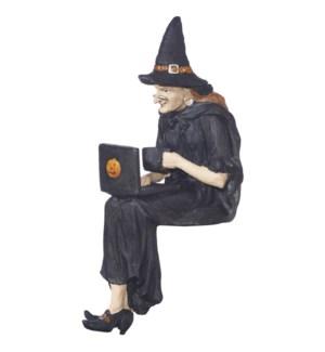 "*SB* 10"" Computer Witch Shelf Sitter"