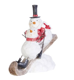 "*SB* 10.25"" Snowmen on Sled"