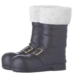 "10.25"" Black Santa Boots Container"