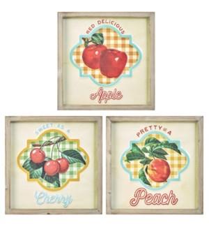 *SB* 12 Fruit Framed Wall Art