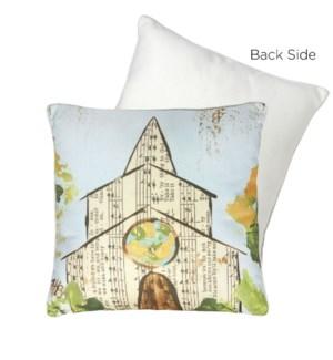 17.25 Sheet Music Church Pillow
