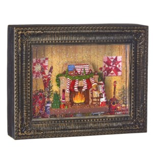 """10"""" Grandmother's Living Room Lighted Water Picture Frame"""