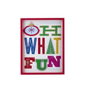 14 Oh What Fun Framed Wall Art