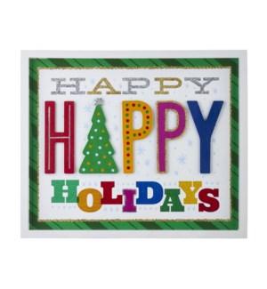 18 Happy Holidays Framed Wall Art