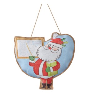 "13.5"" Elf University Santa Professor Ornament"