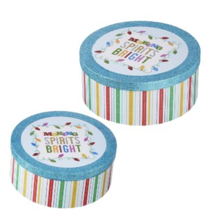 12 Making Spirits Bright Nested Boxes
