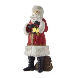 "17.5"" Santa with Lighted Lantern"