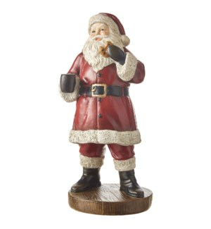 """11.75"""" Santa with Cookie"""