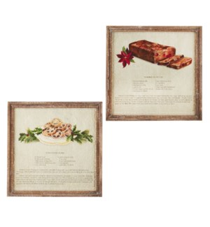 """16.5"""" Holiday Spice Recipe Textured Paper Framed Wall Art"""