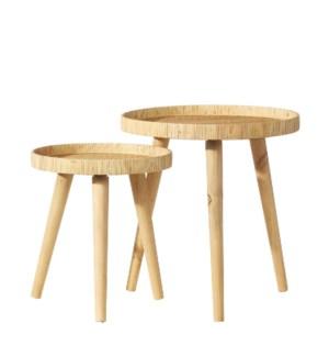 *DC* 21.5 Rattan Nesting Tables