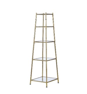 *DC* 55.25 Gold Bamboo Tiered Stand