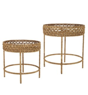 *DC* 24 Woven Accent Table