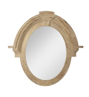 *DC* 37.5 Distressed Oval Mirror