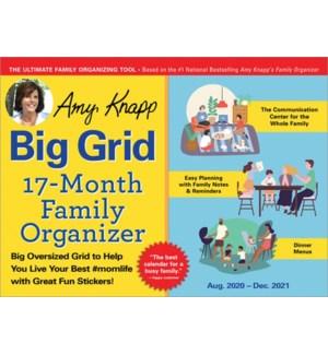 2021 Amy Knapp's Big Grid Family Organizer Wall Calendar