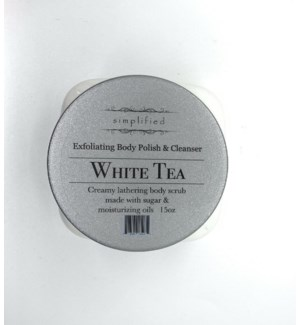15 oz body polish - white tea