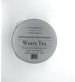 15 oz body polish - white tea