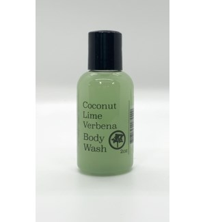2oz body wash - coconut lime verbena