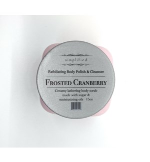 15 oz body polish -frosted cranberry
