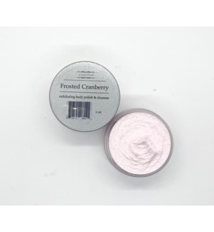 2oz body polish - frosted cran