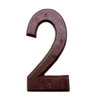 ***Rustic House Number 2-Bronz