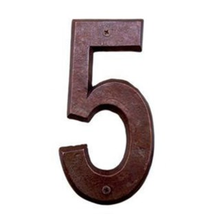 ***Rustic House Number 5-Bronz