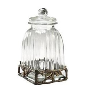 **Pinecone Large Glass Caniste