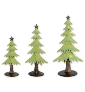 "9"",12"",14"" Evergreen Table Top 3 piece set"