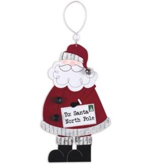 """""""North Pole"""" Santa Ornament"""
