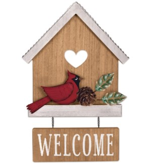 """""""Welcome"""" Cardinal House Sign"""