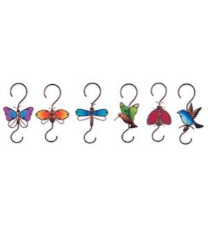 """12"""" Rainbow Garden Hooks 6 Asst"""