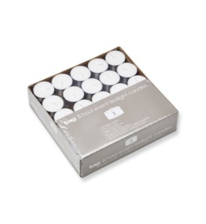8 HOUR EVENT TEALIGHT CANDLE S/50
