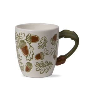 ACORN AND OAK LEAF HANDLE MUG