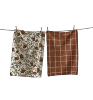 ACORN DISHTOWEL SET/2