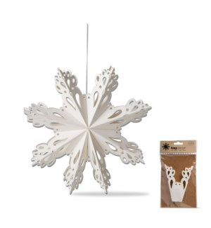 6 IN SNOWBIRD SNOWFLAKE HANGING DECOR