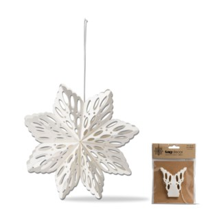6 IN ALPINE SNOWFLAKE HANGING DECOR