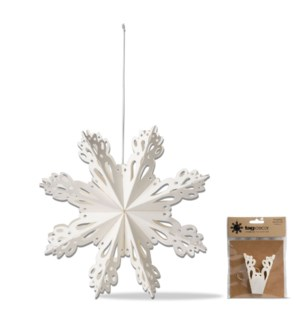 18 IN SNOWBIRD SNOWFLAKE HANGING DECOR