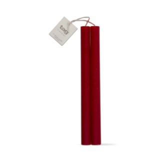 "10"" STRAIGHT CANDLES SET/2 RED"