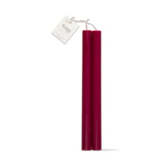 "10"" STRAIGHT CANDLES SET/2 CRANBERRY"