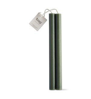 "10"" STRAIGHT CANDLES SET/2 DARK GREEN"