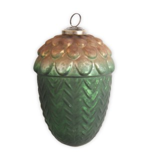 6 IN LG ACORN GLASS ORNAMENT